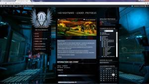 La page de l'événement